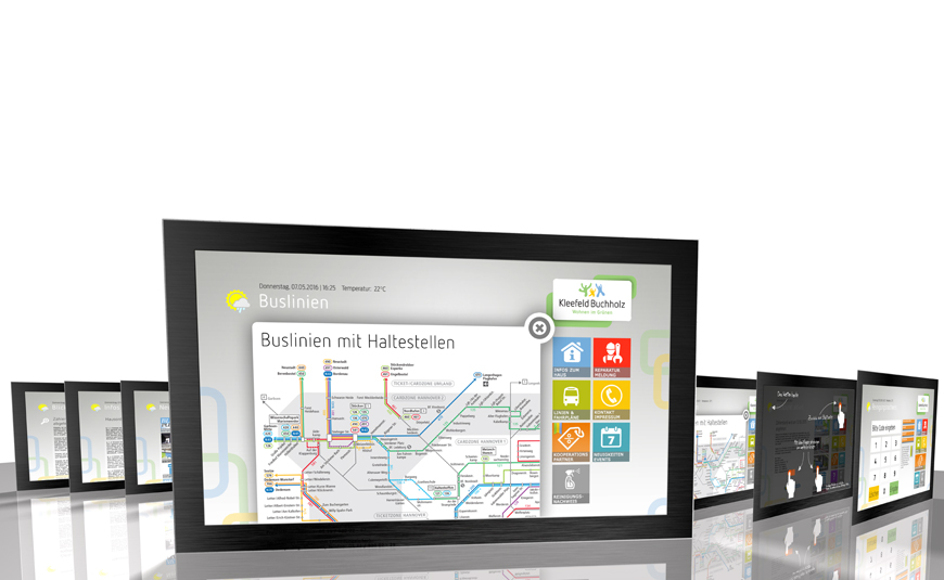 DasDigitaleBrett Nahverkehr Monitore
