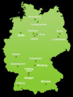 DasDigitaleBrett deutschlandweite Standorte Karte