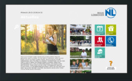 DasDigitaleBrett Benutzeroberflaeche News Modul digitales schwarzes Brett