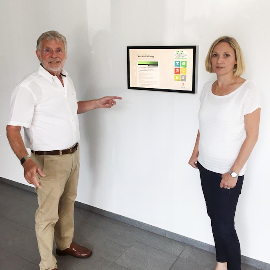 Modernes Wohnen Koblenz Eg Nutzt Digitales Brett Zur Vernetzung Im